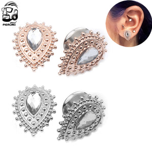 2Pcs Stainless Steel Saddle Ear Gauge-Sunshine's Boutique & Gifts