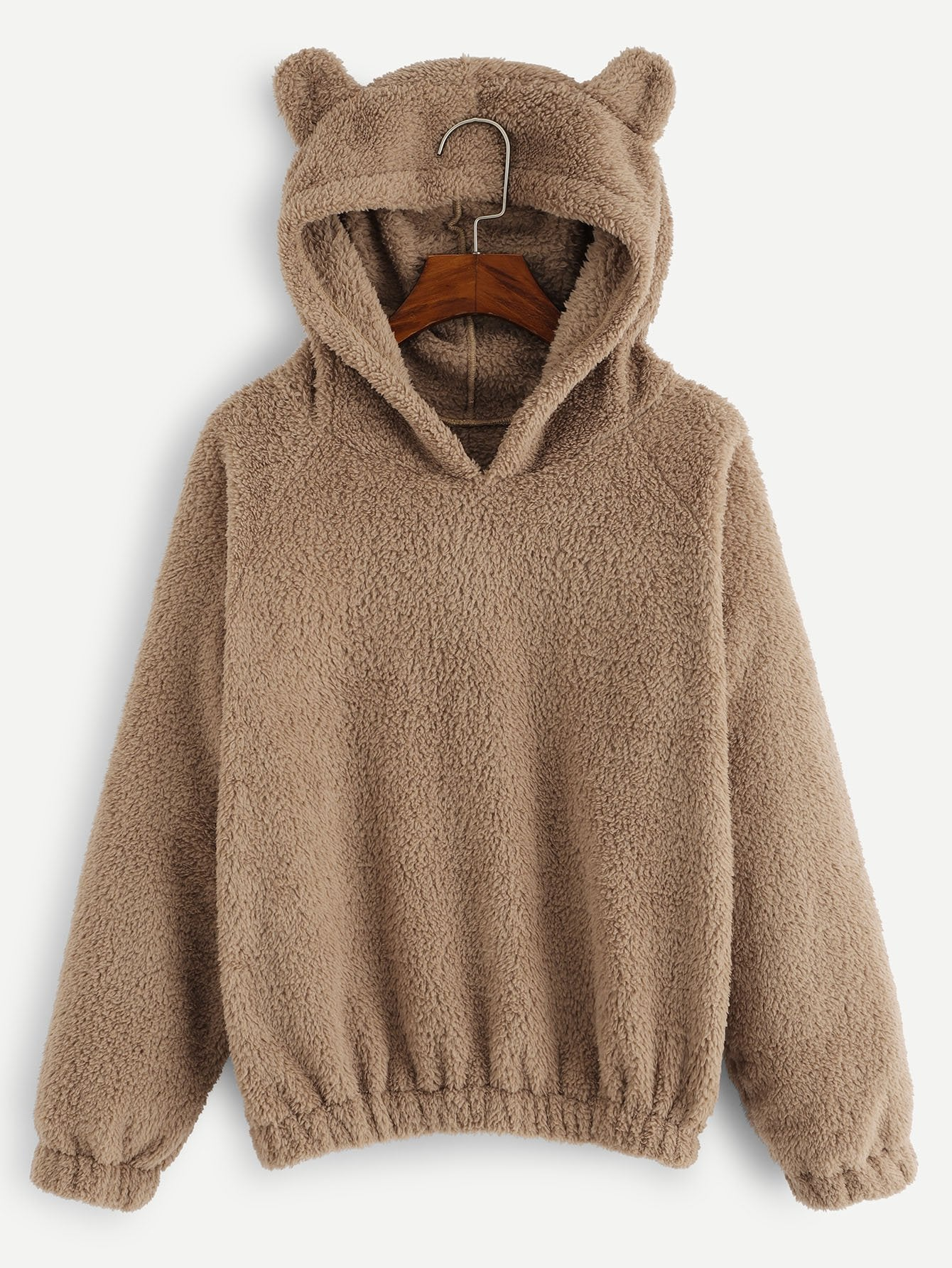 Solid Hooded Teddy Sweatshirt-Sunshine's Boutique & Gifts