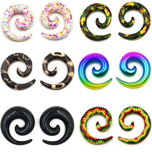 2pcs Acrylic Spiral Ear Gauges-Sunshine's Boutique & Gifts