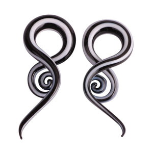 2pcs Glass Ear Spiral-Sunshine's Boutique & Gifts