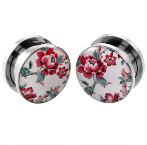 2pcs/lot Stainless Steel Ear Plugs and Tunnels-Sunshine's Boutique & Gifts