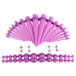36pcs/lot Ear Gauges Taper and Plug Stretching Kits