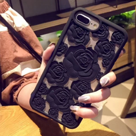 3D Hollow Rose Soft Silicone Phone Cases For IPhone-Sunshine's Boutique & Gifts