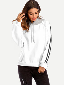 Contrast Striped Side Hoodie-Sunshine's Boutique & Gifts