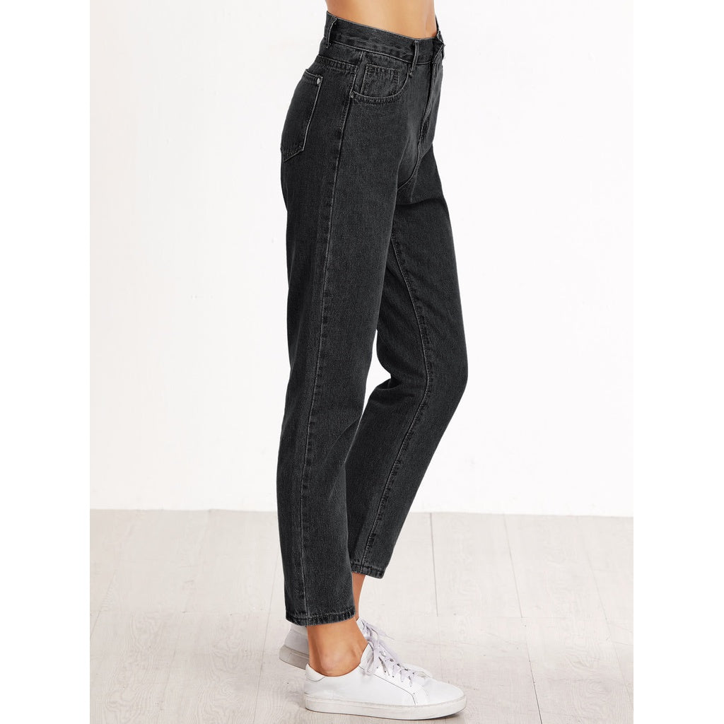 High Waist Crop Loose Jeans-Sunshine's Boutique & Gifts