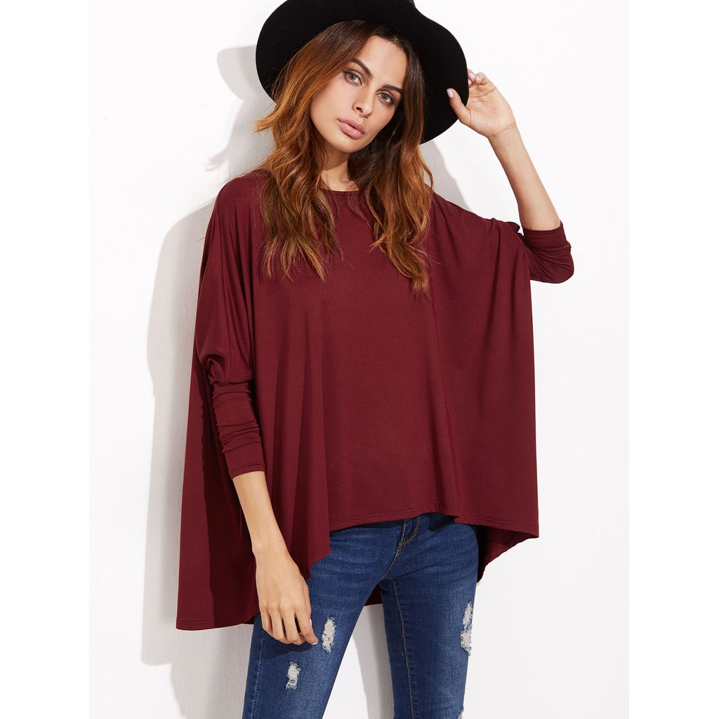 Oversized Dolman Sleeve T-shirt-Sunshine's Boutique & Gifts