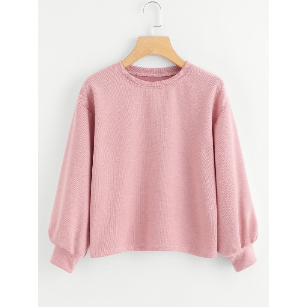 Lantern Sleeve Sweatshirt-Sunshine's Boutique & Gifts