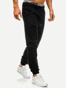 Men Drawstring Waist Solid Pants-Sunshine's Boutique & Gifts