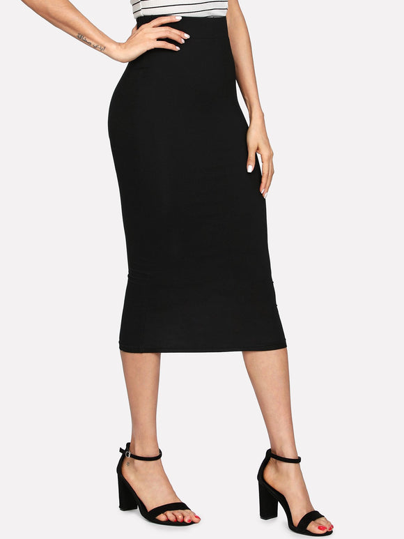 Elastic Waist Jersey Pencil Skirt-Sunshine's Boutique & Gifts