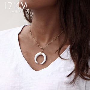 17KM Bohemian Chokers Acrylic Ox Horn-Pendant Necklaces-Sunshine's Boutique & Gifts