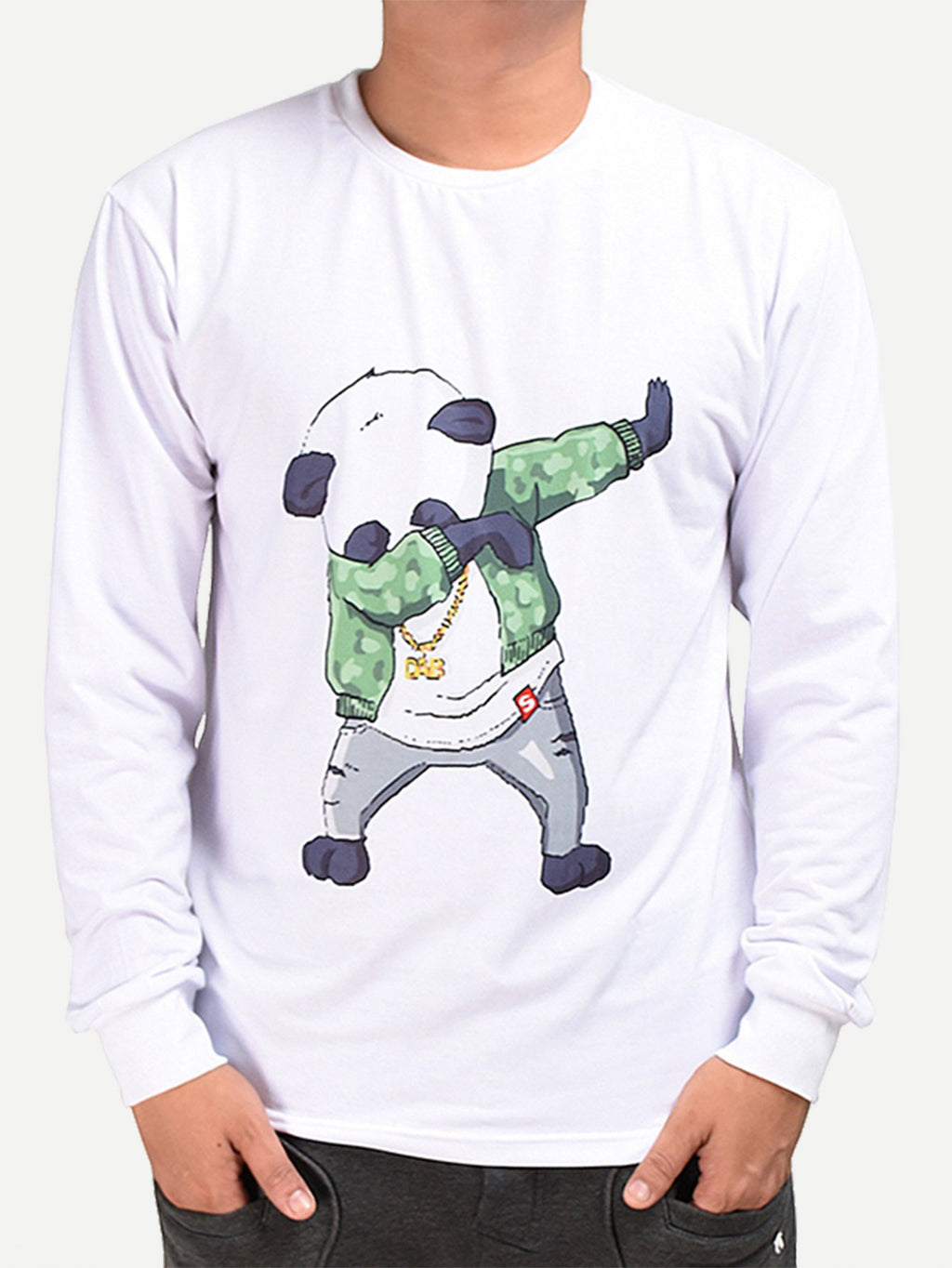 Men Panda Print Tee-Sunshine's Boutique & Gifts