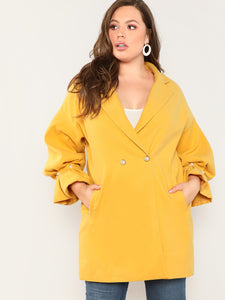 Plus Pearl Beading Bell Sleeve Coat-Sunshine's Boutique & Gifts