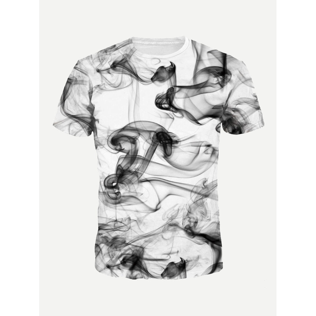Men Smoke Print Tee-Sunshine's Boutique & Gifts