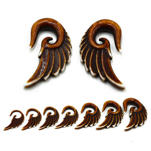 7pairs 3mm-12mm Acrylic Angel Wings Plug-Sunshine's Boutique & Gifts