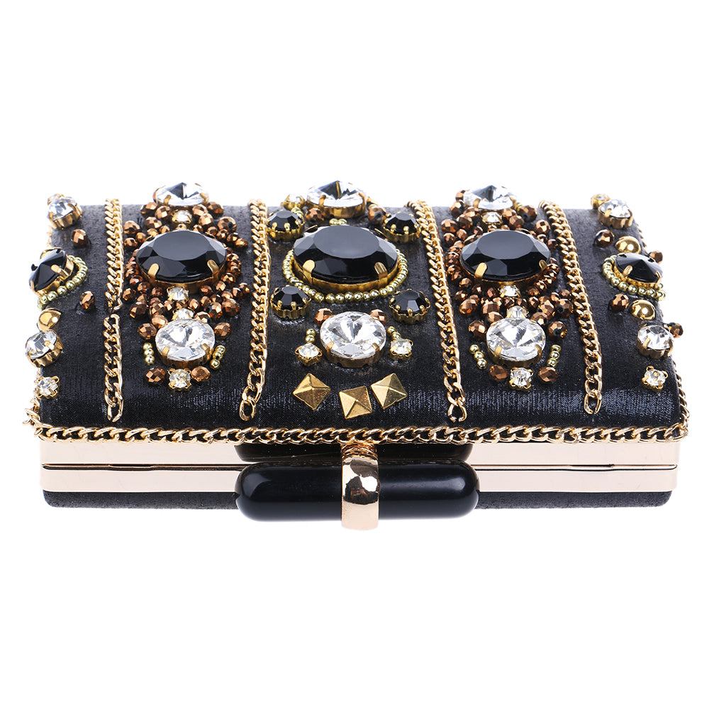 Evening Bags One Side Diamonds Purse-Clutches-Sunshine's Boutique & Gifts
