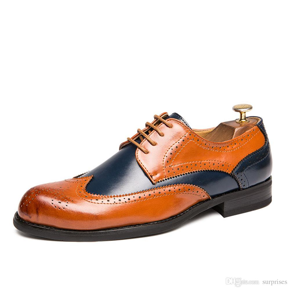 Large size men leather dress shoes