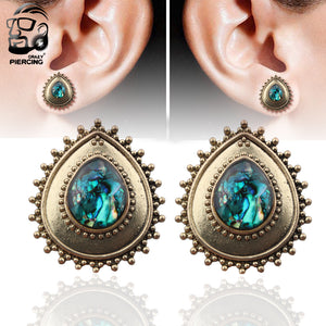 Fashion Stainless Steel Saddle Ear Tunnels-Sunshine's Boutique & Gifts