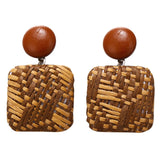 Bohemia Rattan Knit Earrings-Sunshine's Boutique & Gifts