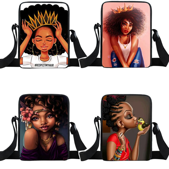 Africa Beauty Princess small crossbody bags-Sunshine's Boutique & Gifts