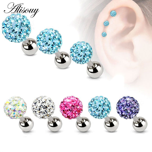 3 4 5mm Trendy Crystal Ball Surgical Steel Studs-Sunshine's Boutique & Gifts