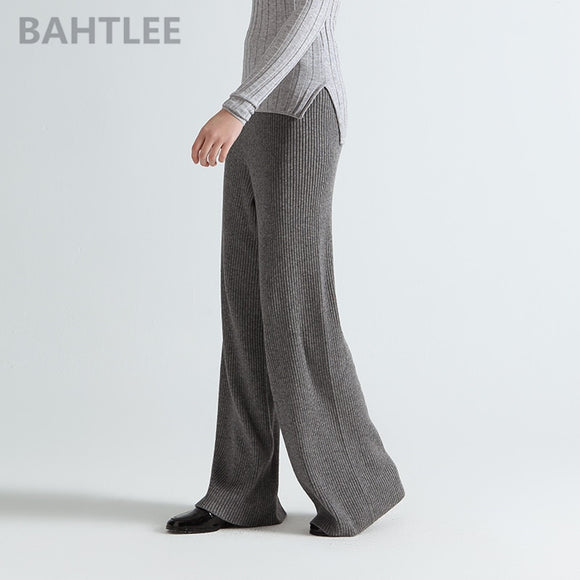Women Knitted casual loose style high elastic waist pants
