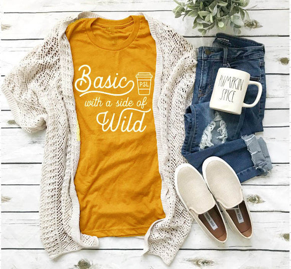 Basic with a side wild t-shirt-Sunshine's Boutique & Gifts