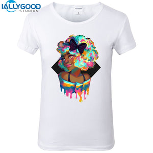Beautiful Black Girl Magic Rainbow T-Shirt-Sunshine's Boutique & Gifts