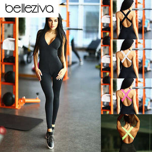 Fitness Elastic Sport Jumpsuit-Sunshine's Boutique & Gifts