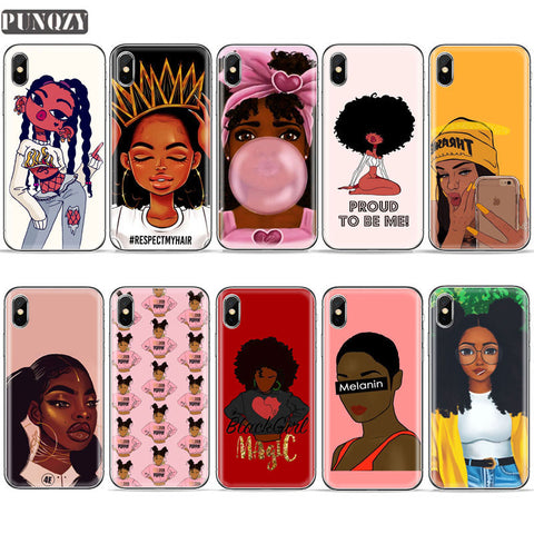 Black Girl Melanin Poppin phone Case For iPhone-Sunshine's Boutique & Gifts