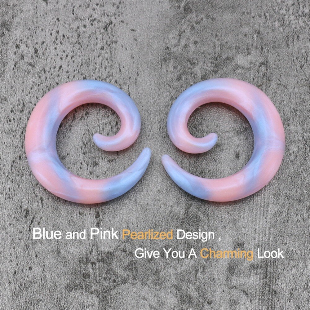 Pearlized Silicone Spiral Ear Plugs