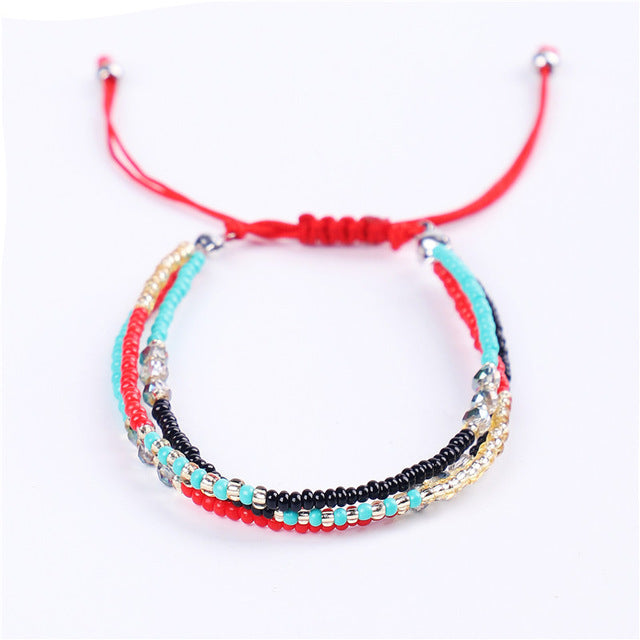 Bohemia style Thin Beads Bracelet Multi-layer-Sunshine's Boutique & Gifts