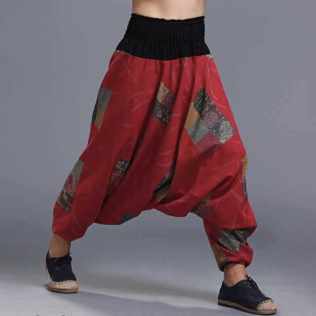 Boho Men Harem Pants-Sunshine's Boutique & Gifts
