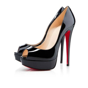 Woman Peep Toe high Heels Pumps-Sunshine's Boutique & Gifts