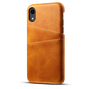 For iPhone Xs Max/Xr/X/Xs/7/8 Plus case Retro PU Leather Phone Case with Card Slots-Sunshine's Boutique & Gifts