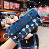 Cartoon Wrist strap Phone Case For iPhone