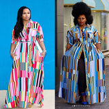 Bohemian Plus Size Maxi Dress