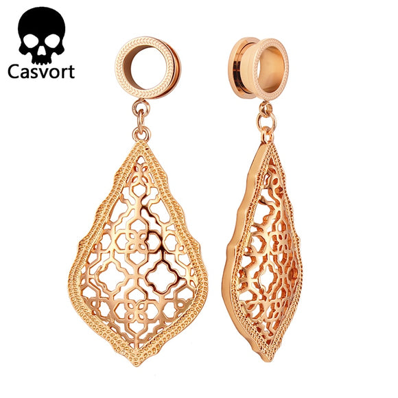 New Fashion Addie Rose Gold Dangle Modern Plugs-Sunshine's Boutique & Gifts