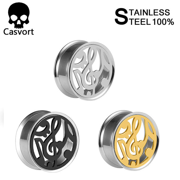 Fashion stainless steel flared helix ear gauges-Sunshine's Boutique & Gifts