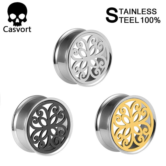 Stainless steel ear plugs double flared-Sunshine's Boutique & Gifts
