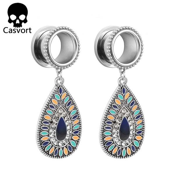 New helix teardrop dangle ear plugs-Sunshine's Boutique & Gifts
