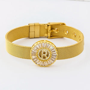 Classic Stainless Steel Watch Belt Bracelet