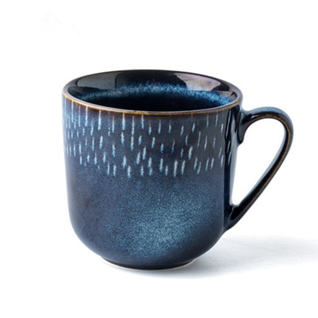 Creative Blue Pottery Ceramic Coffee Mugs-Sunshine's Boutique & Gifts