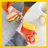 French Fries Hamburger Headphone Cases For Apple Airpods Pro 3