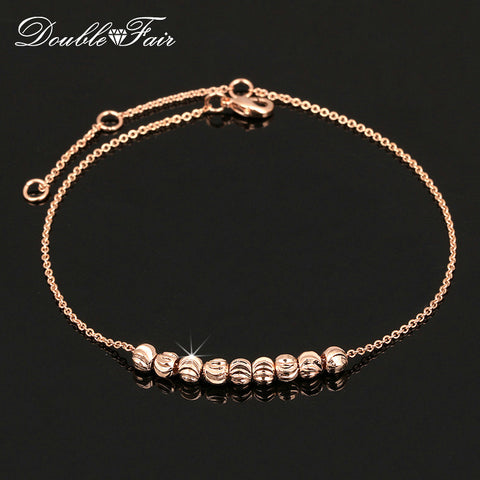 Anklets Chain Rose Gold Color/Silver Tone-Sunshine's Boutique & Gifts