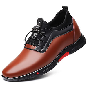 Men Genuine Leather Casual Lace Up Shoes-Sunshine's Boutique & Gifts