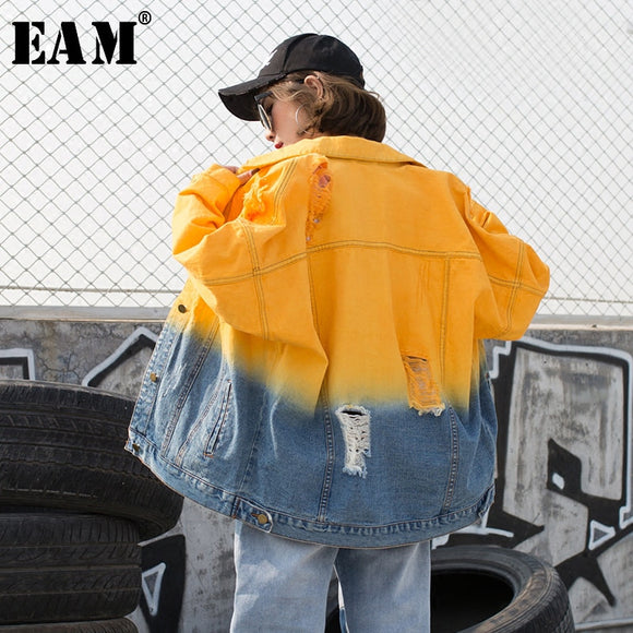 Spring Large Denim Jacket-Sunshine's Boutique & Gifts