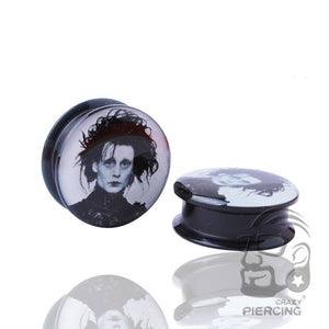 Edward Scissorhands Screw Ear Plug-Sunshine's Boutique & Gifts
