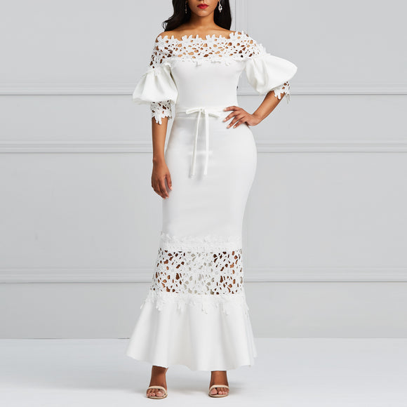 Women Off Sholuder Maxi dress-Sunshine's Boutique & Gifts