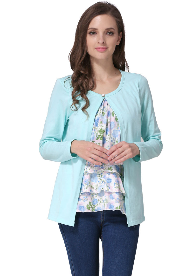 Long Sleeve Maternity Breastfeeding Tops 2 Pieces-Sunshine's Boutique & Gifts
