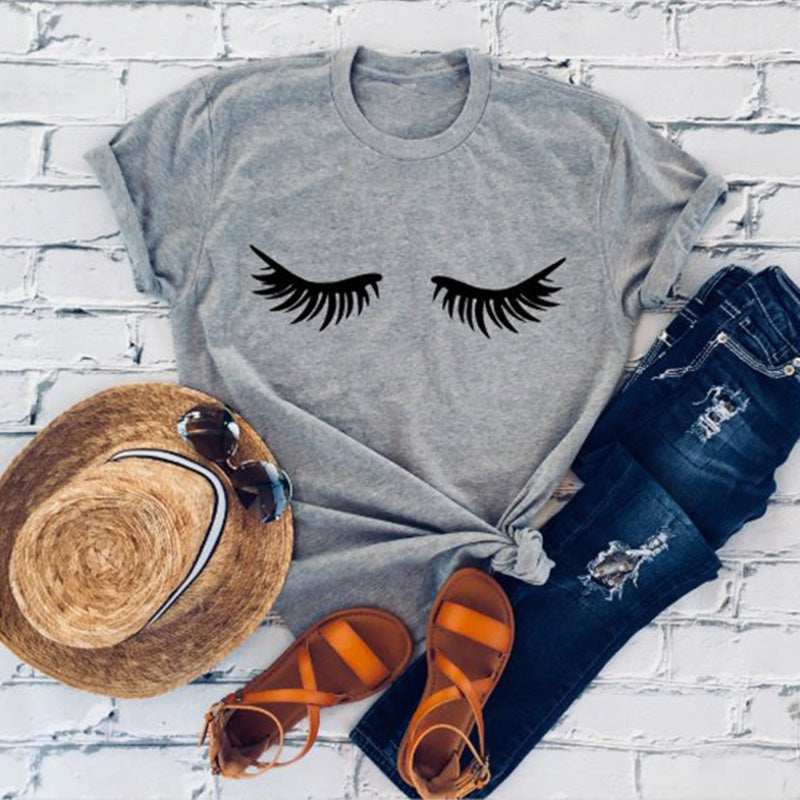 Women Eyelashes Tee-Sunshine's Boutique & Gifts